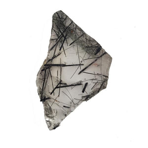 52.02ct Slice of Tourmalinated Quartz 45x27mm - Dynagem
