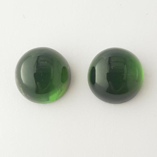 17.81ct Pair of Round Cabochon Tourmalines