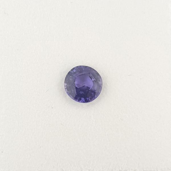 0.70ct Round Faceted Mauve Sapphire 5.2mm