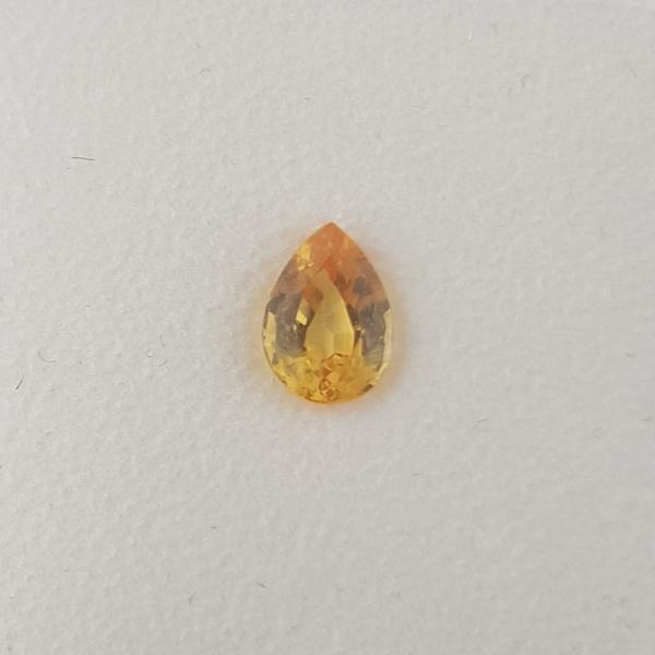 0.65ct Pear Shape Yellow Sapphire 6.2x4.5mm