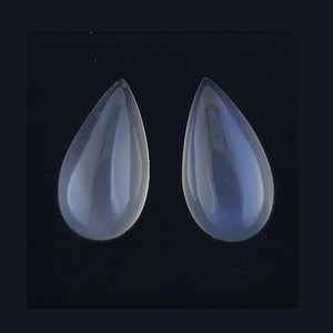 16.58ct Pair of Pear Shape Cabochon Moonstone 19x10mm - Dynagem