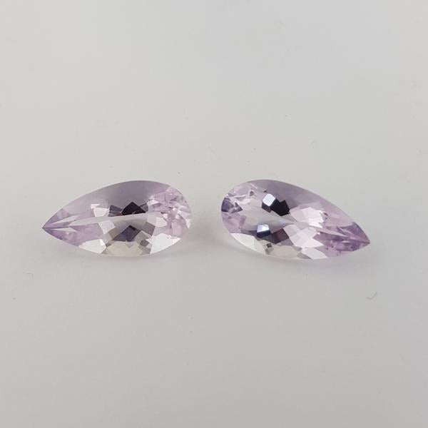 15.22ct Pair of Pear Shape Scapolite 20x10mm - Dynagem