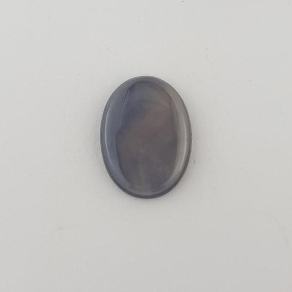 7.40ct Greenish Sapphire Oval Cabochon Slice 15.9x11.7mm