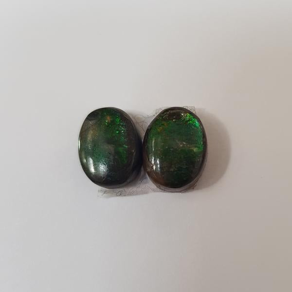 Pair of Oval Ammolite Triplets 10x8mm