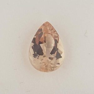 3.36ct Pear Shape Morganite 12.3x8.6mm
