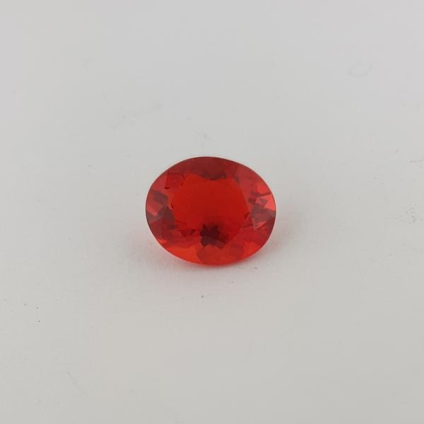 4.24ct Oval Faceted Fire Opal 13x11mm