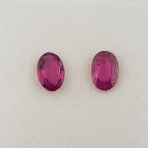 1.12ct Pair of Oval Faceted Rubies 6x4mm - Dynagem