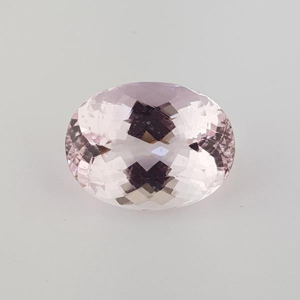 22.70ct Oval Faceted Morganite 21.1x15.8mm - Dynagem