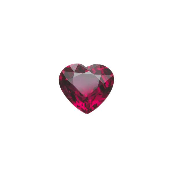 1.18ct Heart Ruby 6.4x5.8mm