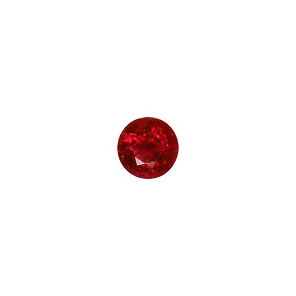 2.01ct Round Ruby Certified of Burmese Origin 6.9mm - Dynagem