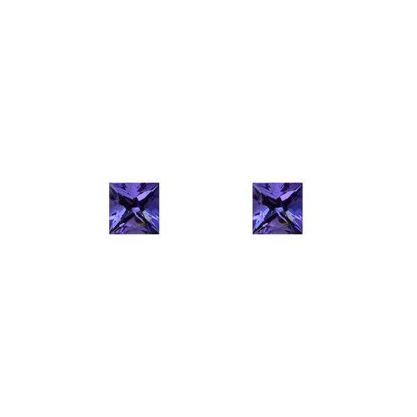 1.30ct Pair of Square Tanzanites 4.7mm