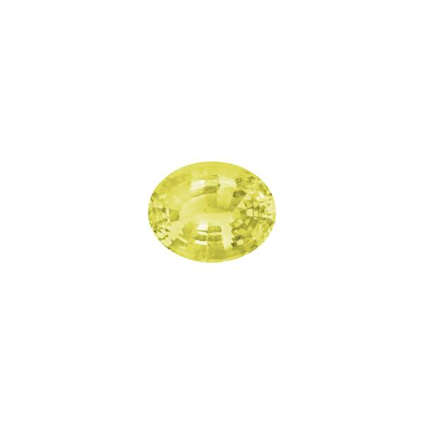 34.38ct Oval Faceted Heliodor 24x19mm - Dynagem