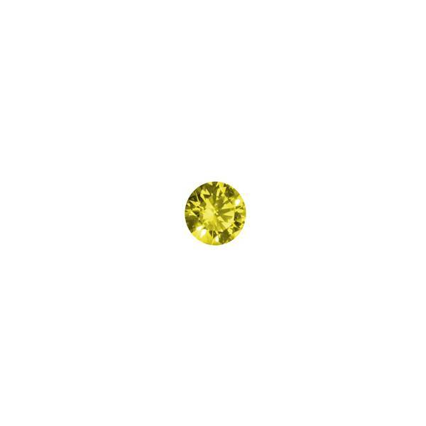 0.23ct Round Brilliant Cut Treated Yellow Diamond - Dynagem