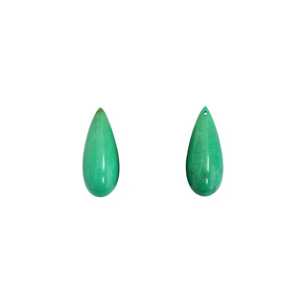 28.30ct Pair of Turquoise Pippin Drops25x10mm - Dynagem