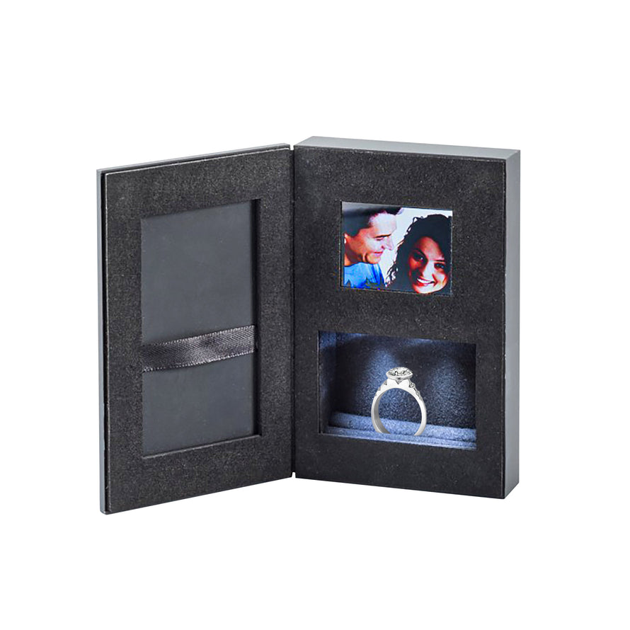 Dynagem Luxury Book Style Video Message Ring Presentation Box