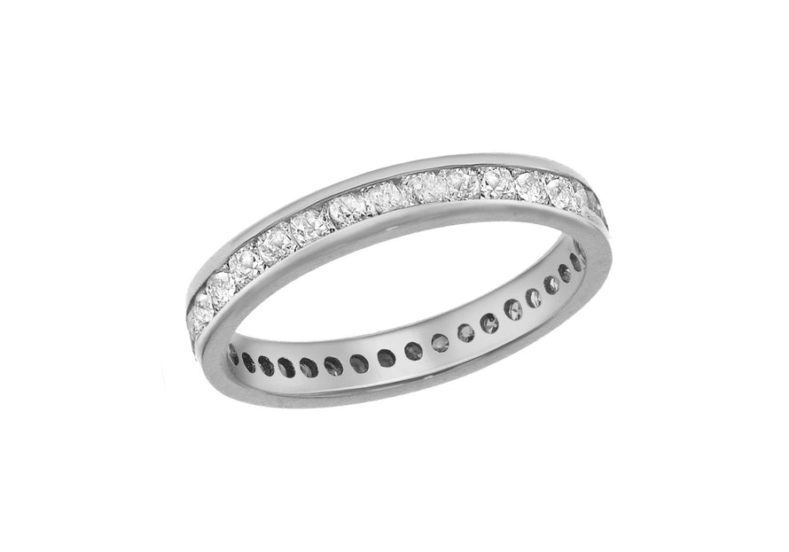 Diamond Full Band Eternity 0.50ct Ring 18ct White Gold