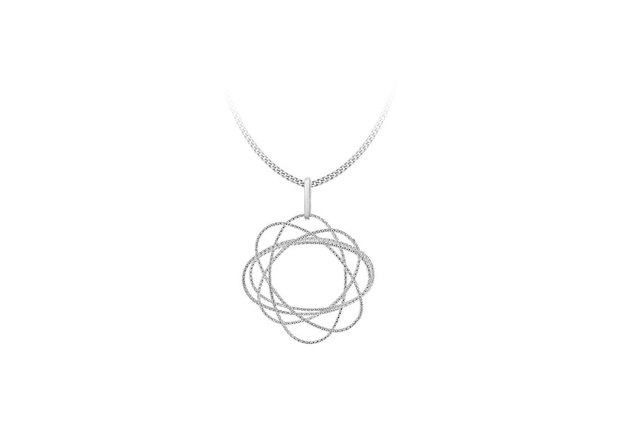 Sterling Silver Round Cosmic Pendant