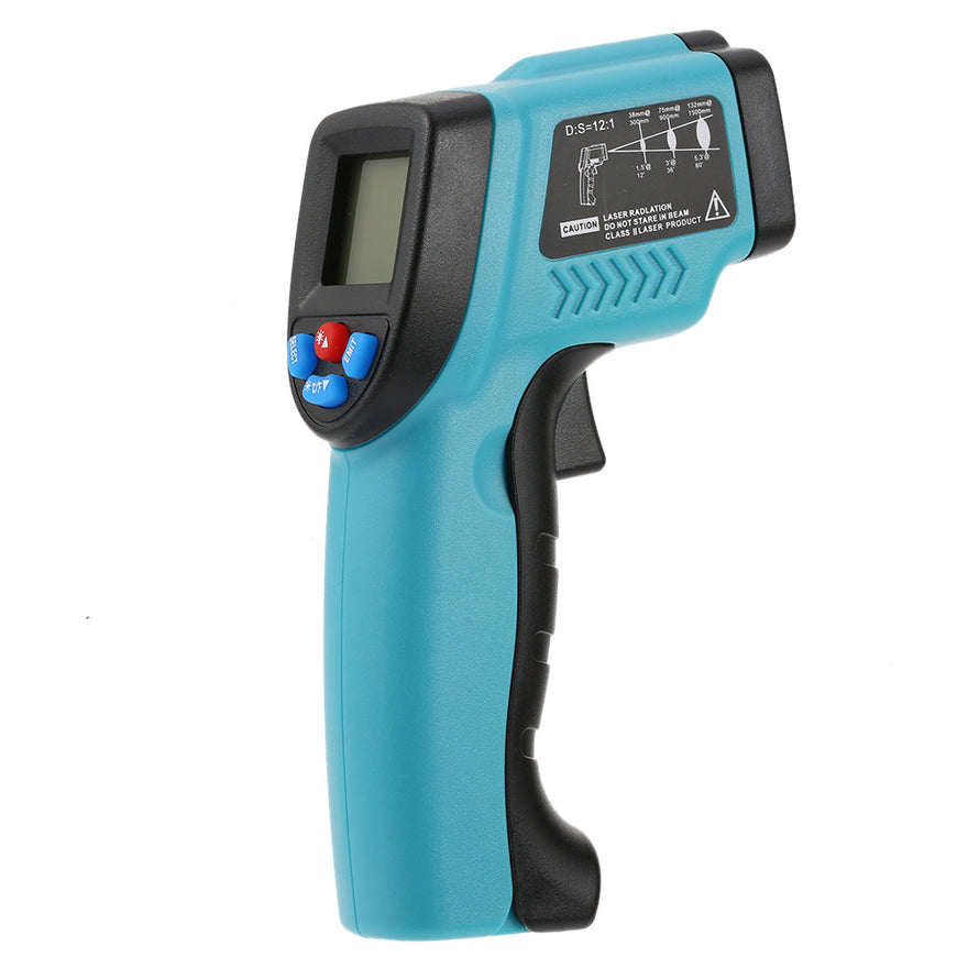 RICHMETERS GM550 -50~550°C 12:1 Handheld Non-contact Digital Infrared IR Thermometer Temperature Tester Pyrometer LCD Display with Backlight