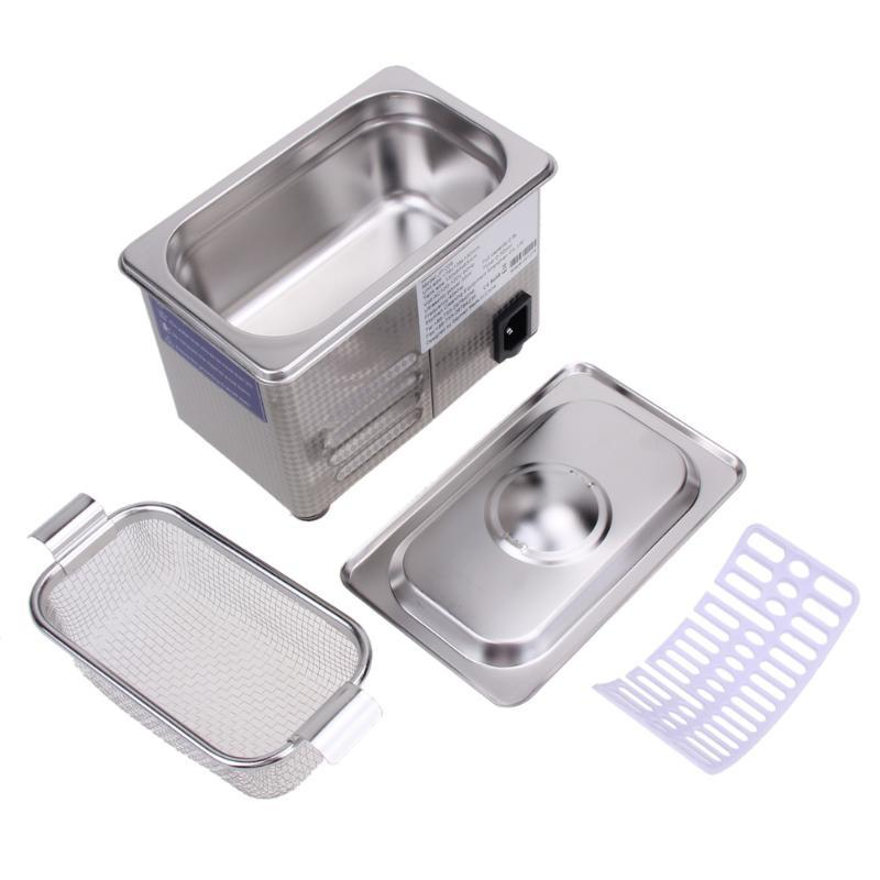 35W 42kHz 800ml Digital Ultrasonic Cleaning Transducer Baskets Jewelry Watches Dental PCB CD Mini Ultrasonic Cleaner Bath