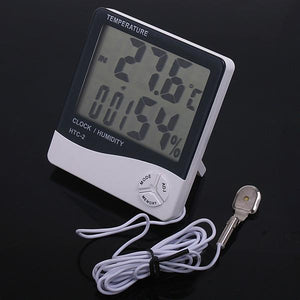 HTC-2 TEMP&Humidity Clock  white