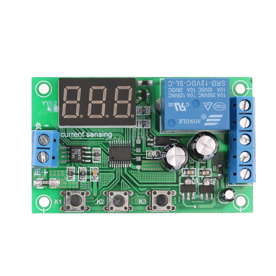 12V 0-10A DC Current Detection Module Current Sensing Detecting Delay Relay Control - Dynagem