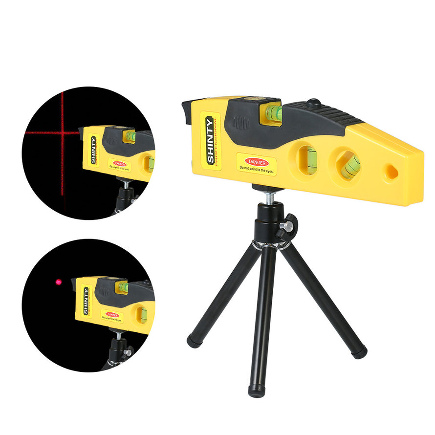 Professional Laser Level Line Marker with Adjustable Tripod Laser Dot Cross Line Horizontal Vertical 45-degree Measurement