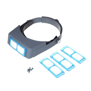 Double Lens Head-mounted Headband Reading Magnifier Loupe Head Wearing 4 Magnifications