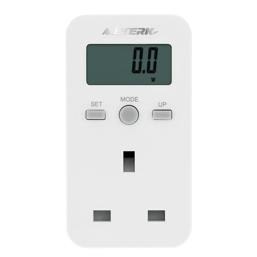 Meterk UK Plug Plug-in Digital LCD Energy Monitor Power Meter Electricity Electric Usage Monitoring Socket