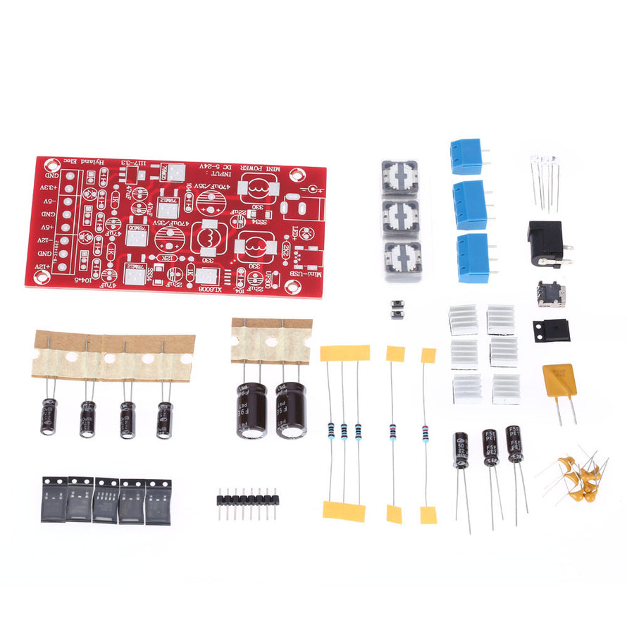 DIY USB Boost Single Turn Dual Power Supply Module Linear Regulator Multiple Output Power Kit