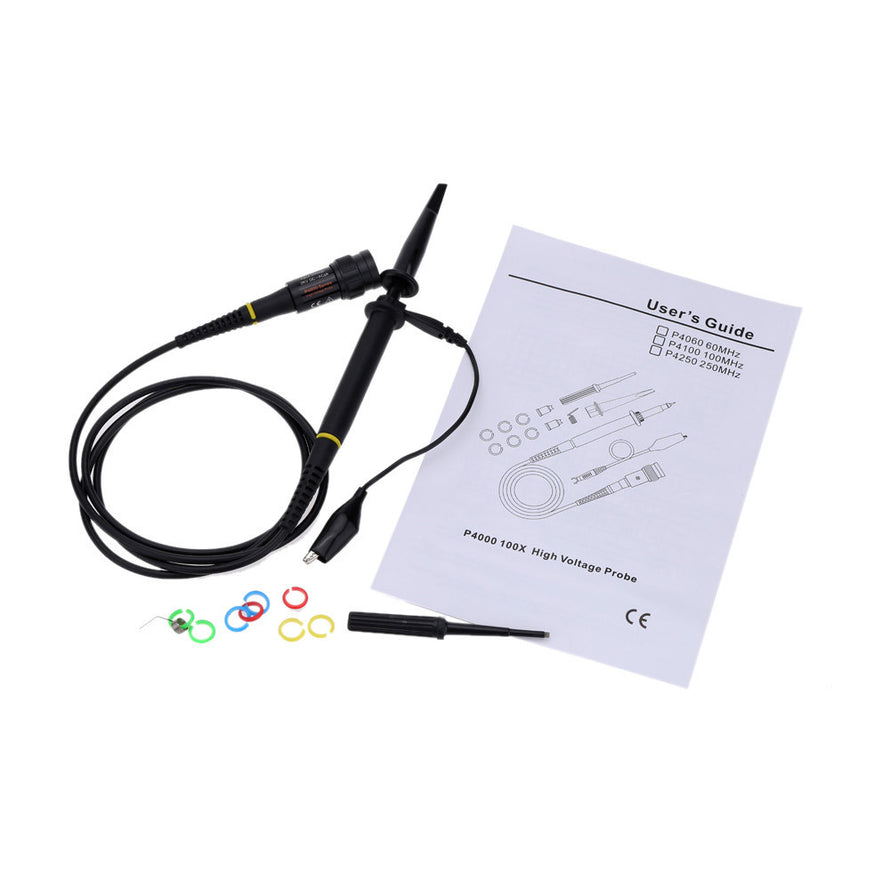 P4100 High Voltage Oscilloscope Probe 2KV 100:1 100MHz Alligator Clip Test Probe