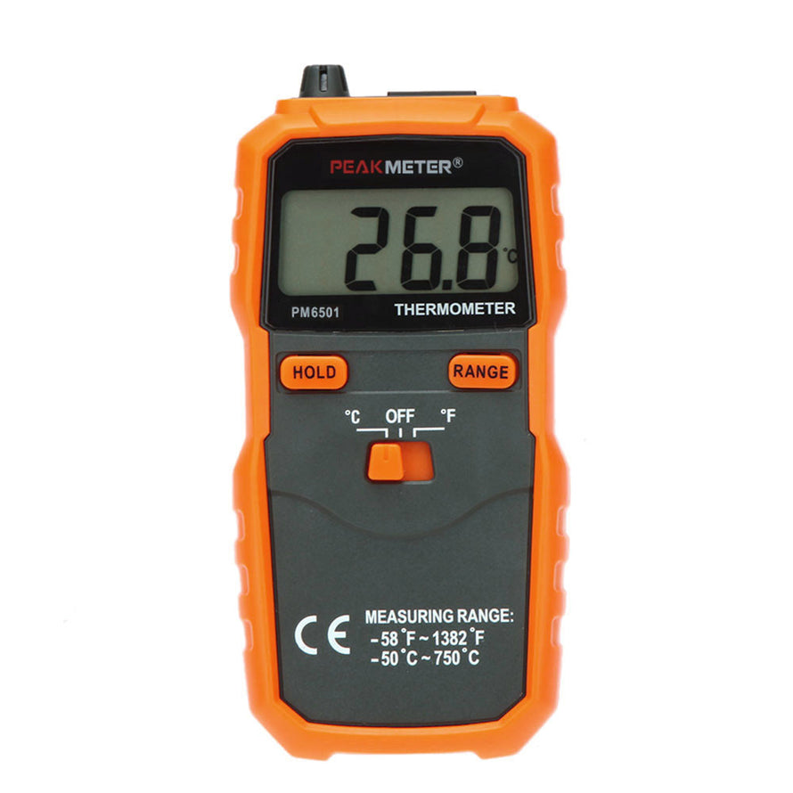 PEAKMETER PM6501 LCD Screen -50℃~ 750℃ / -58℉~1382℉ K Type Data Hold Digital Thermometer