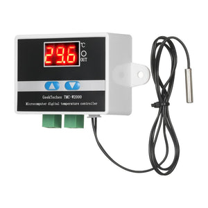 GeekTeches TMC-W2000 AC110-220V 1500W High Precision LCD Digital Temperature Controller Thermostat with Waterproof Sensor Probe