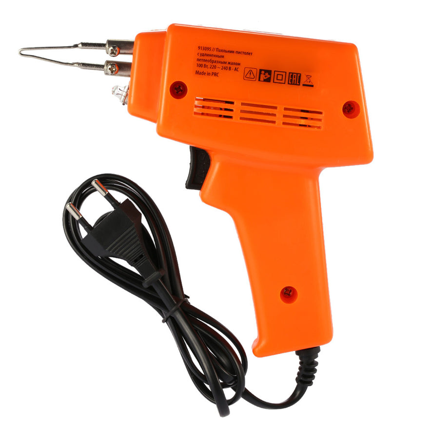 Household Electric Soldering Iron Lighting Solder Gun Set Rapid Heating with Solder Tip Paste Wire 220-240V 100W