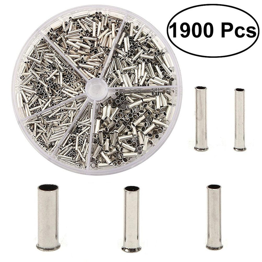 1900Pcs Cylindrical Assorted Wire Crimp Terminals Connector Set Insulated Electrical Connectors Kit - Dynagem