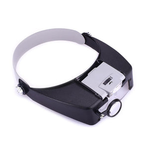 Adjustable Head Headband Lamp Magnifier