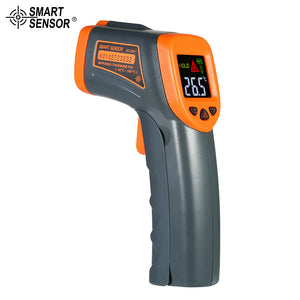 SMART SENSOR -50~380°C 12:1 Mini Handheld LCD Digital Non-contact IR Infrared Thermometer Temperature Tester Pyrometer with Centigrade Fahrenheit
