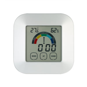 Indoor Comfort Indication Thermometer Hygrometer Smart Digital Touchscreen Colorful Screen Backlight Clock