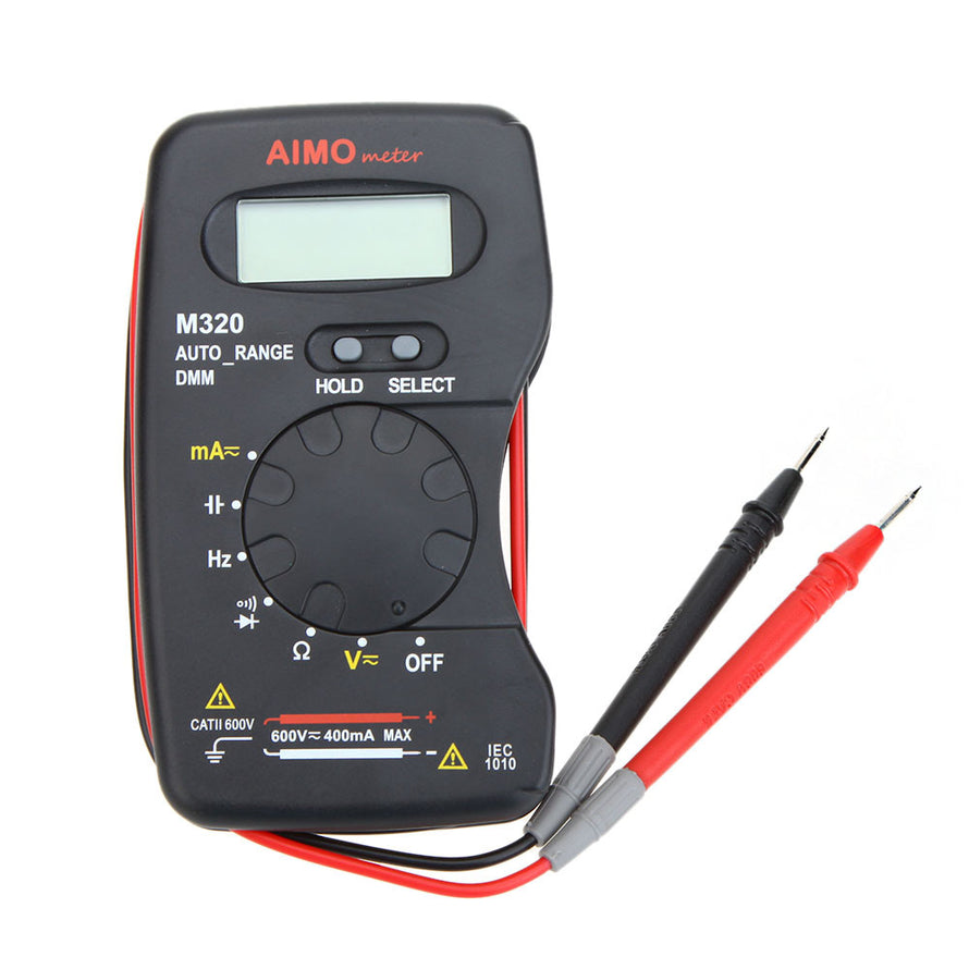 AIMO M320 Pocket Size Handheld LCD Digital Multimeter DMM Frequency Capacitance Measurement Data Hold Auto Range