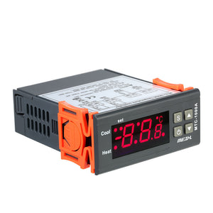 AC220V Digital LED Temperature Controller Thermometer Heating and Cooling Thermostat with NTC Sensor 2 Relays