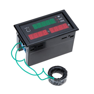 AC80-300V 100A Digital LED Current Voltage Tester Meter Electric Energy Power Factor Detection with CT