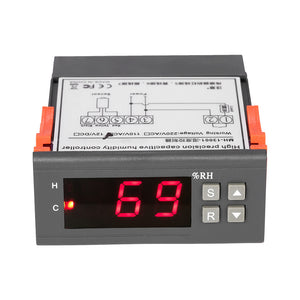 10A 110V Mini Digital Air Humidity Control Controller Measuring Range 1% ~ 99% with Sensor