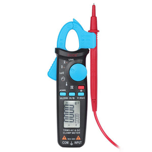 Professional True RMS LCD Digital Clamp Meter Multimeter AC/DC Voltage Current Capacitance Continuity Test Temperature Frequency Measurement Tester