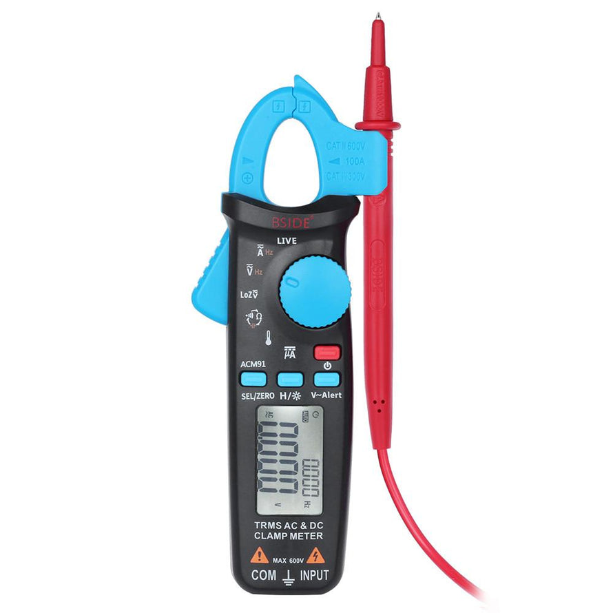 Professional True RMS LCD Digital Clamp Meter Multimeter AC/DC Voltage Current Capacitance Continuity Test Temperature Frequency Measurement Tester - Dynagem