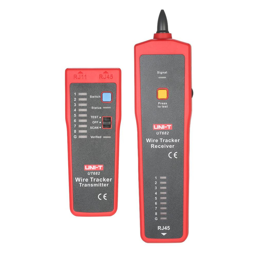 UNI-T UT682 Multi-functional Handheld Wire Tester Tracker RJ11 RJ45 Wire Line Finder Cable Testing Tool for Network Maintenance