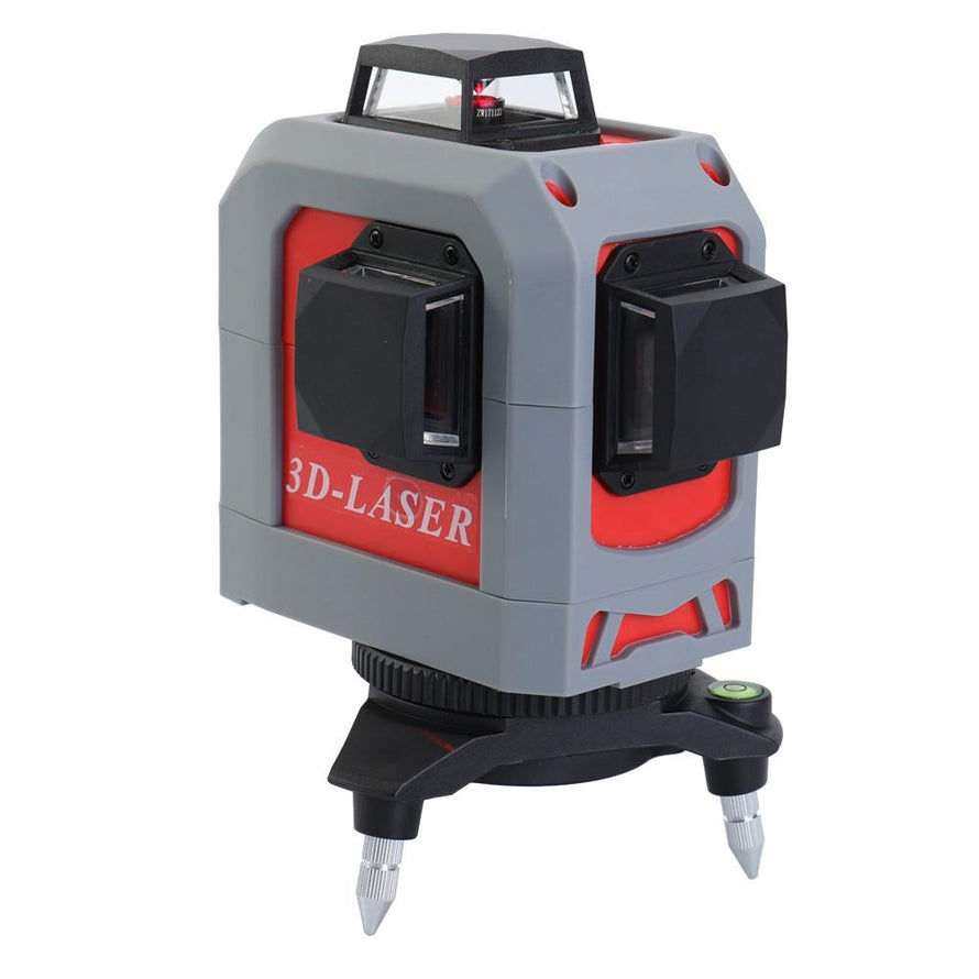 IR 3D Leveler Self-leveling Super Powerful Laser 360° Horizontal and Vertical Red Line Leveling Tool