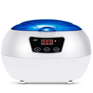 Digital Ultrasonic Cleaner Professional Mini Ultrasound Machine To Remove Jewelry Eyeglasses Dirt Oil Grime - Dynagem