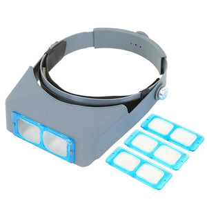 Double Lens Head-mounted Headband Magnifier Loupe - Dynagem