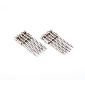 10 Pcs SH1/4, 75mm Long S2 Magnetic Hex Head Screwdriver Bits