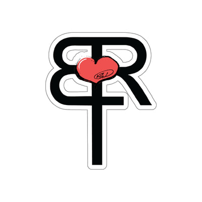 BTR original heart logo Kiss-Cut Stickers