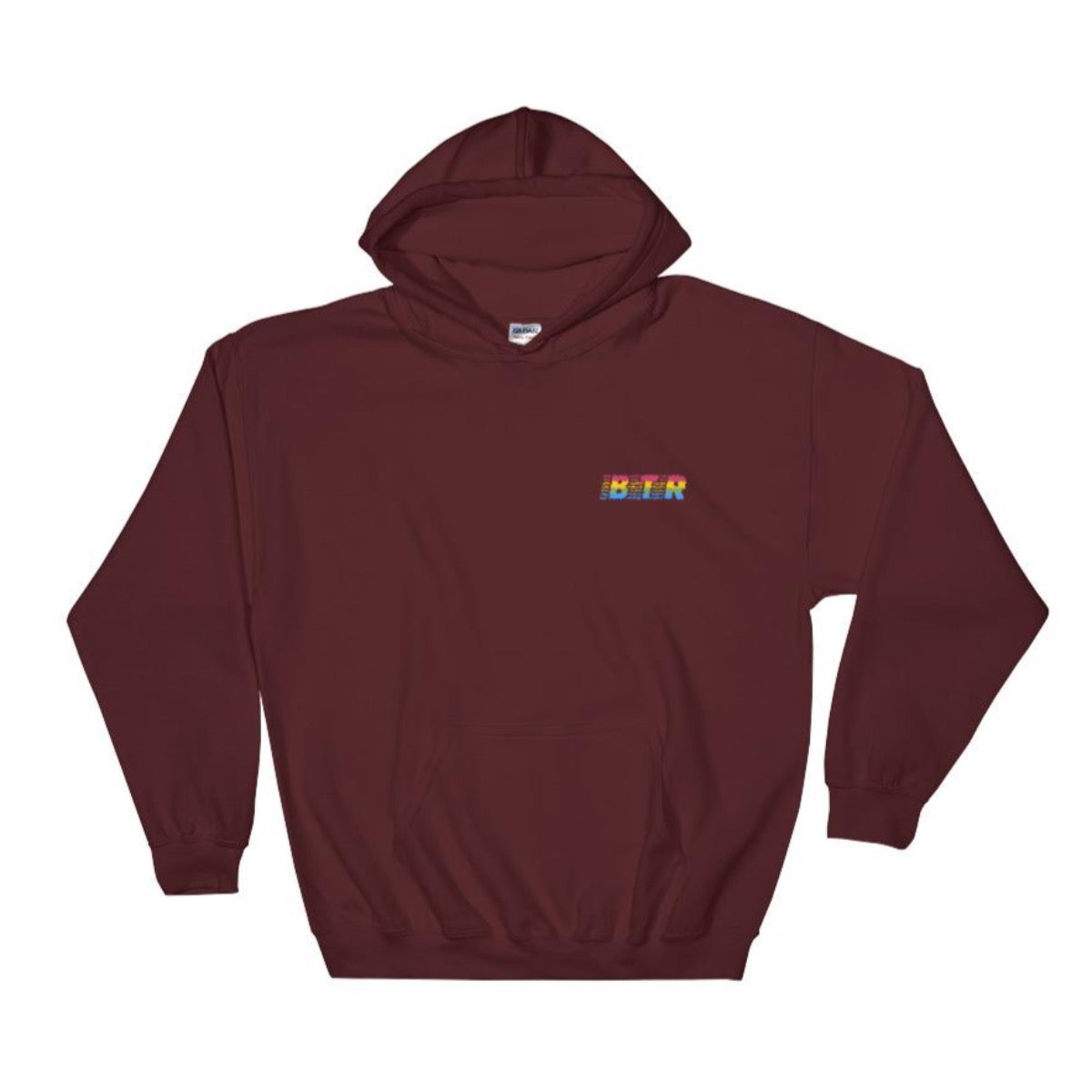 Sunset Stripes Embroidered Hoodie